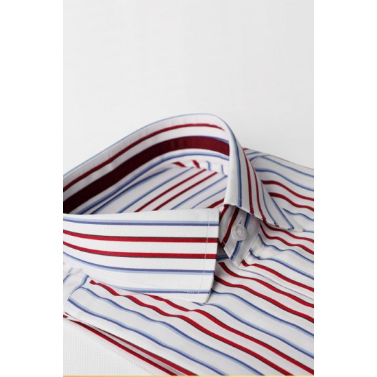 Red and Blue Stripe Shirt